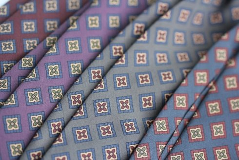 violet ANCIENT MADDER SILK tie