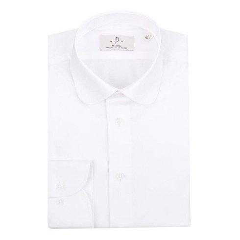 white round collar shirt