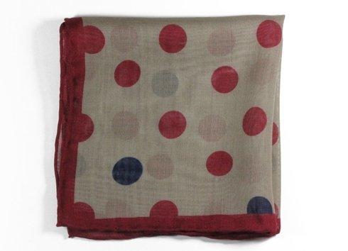 wool & silk big dots pocket square