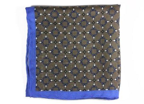 wool & silk kaleidoscope pocket square