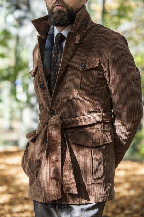 woolen brown knit tie