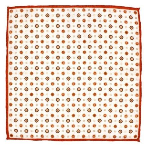 woolen orange flowers pocket square