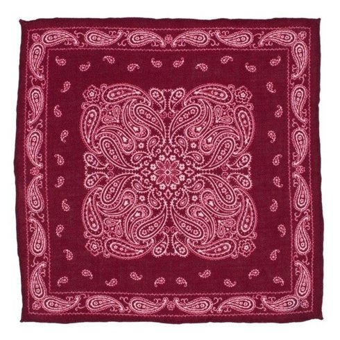 woolen paisley pocket square