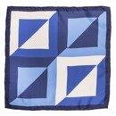 pocket square blue squares