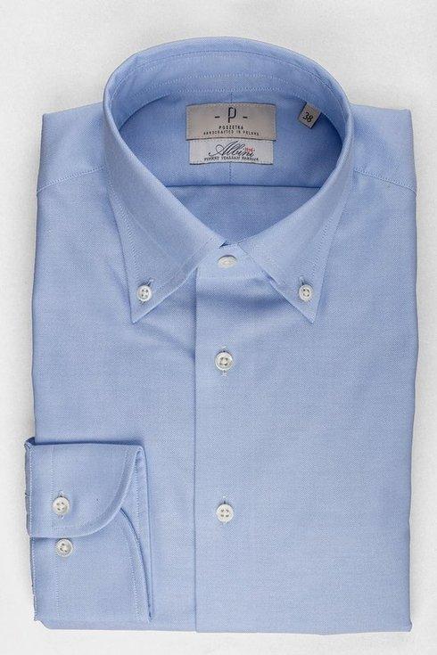 Błękitna koszula OCBD Albini