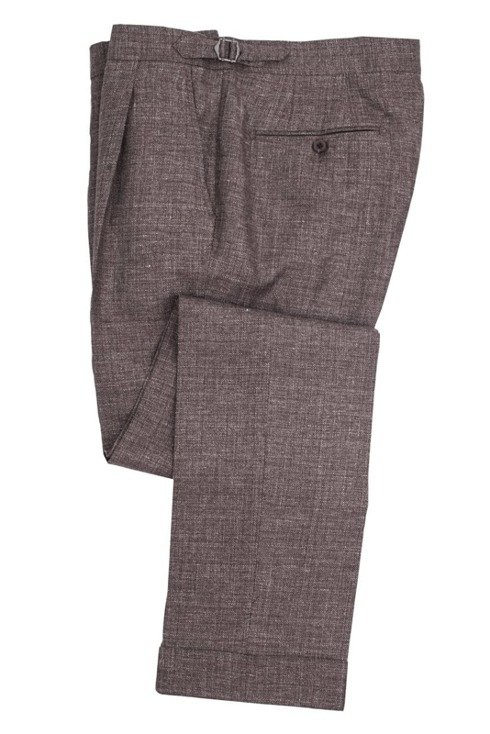GARDA lniano-wełniane spodnie na szelki