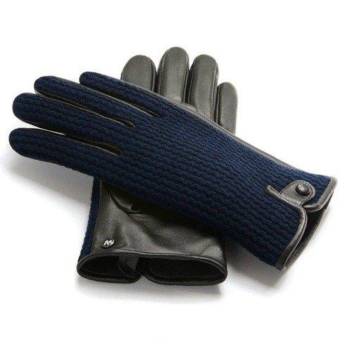 Granatowe rękawiczki