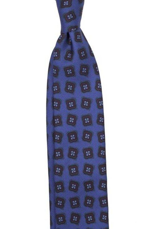 KRAWAT z jedwabiu drukowanego macclesfield niebieski