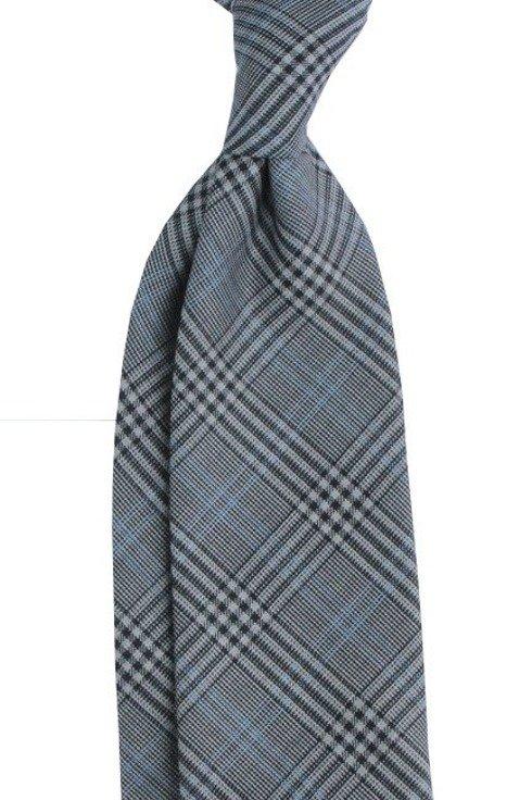 Krawat wełniany BEZ PODSZEWKI Krata Księcia Walii