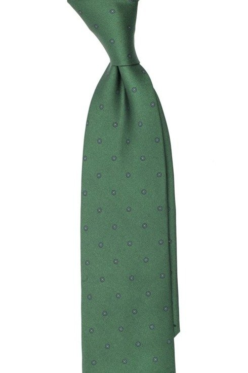 Krawat z jedwabiu Macclesfield zielony