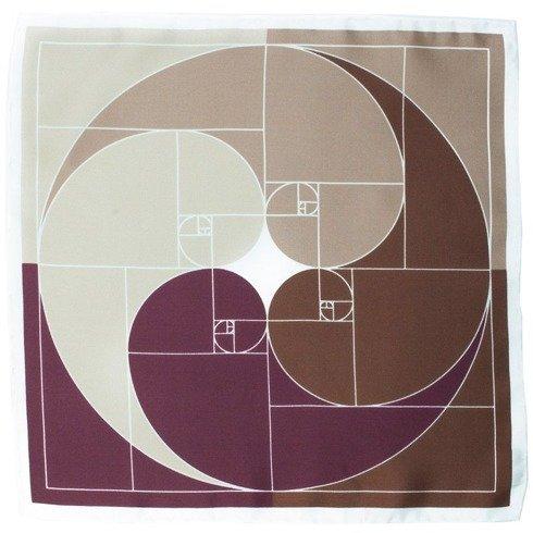 Poszetka spirala Ciąg Fibonacciego