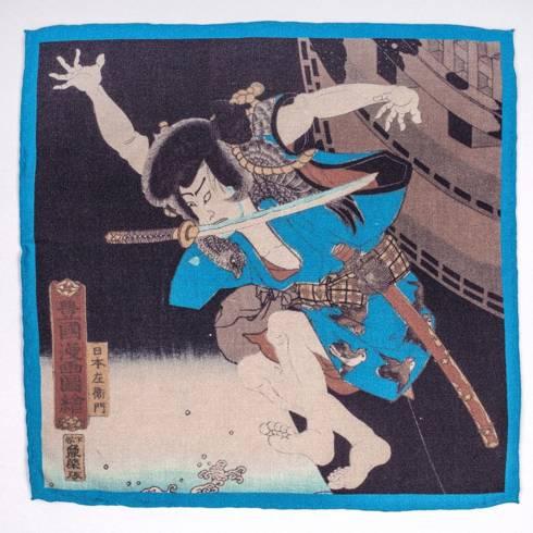 Poszetka wełniano-jedwabna kolekcja japońska