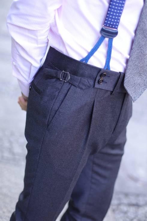 """Preorder: Spodnie """"John"""" wełniane w kratę"""