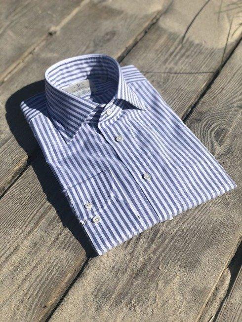 bawełniana koszula w pasy