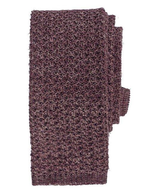 burgundowy knit lniany