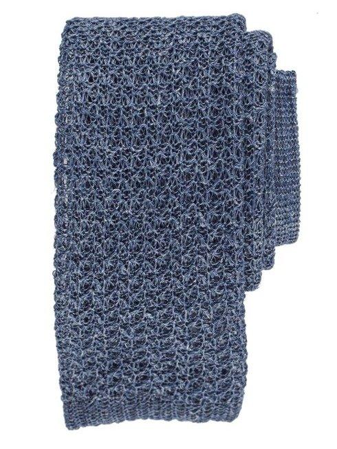 niebieski knit lniany