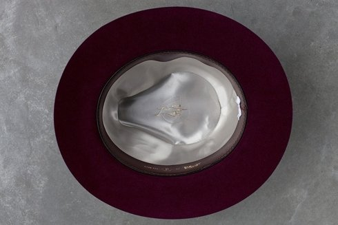 Kapelusz typu fedora burgundowy