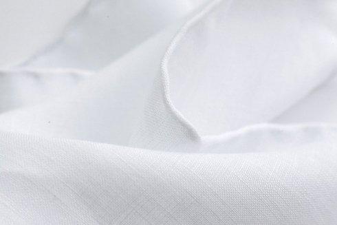 Poszetka biały len