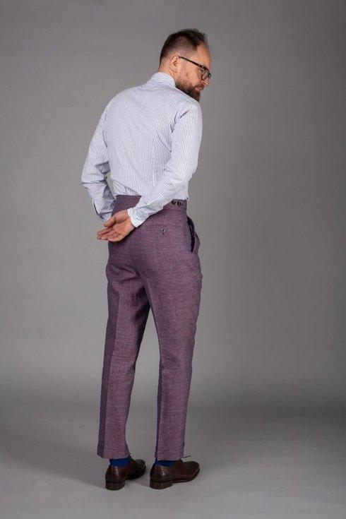 """Preorder: Spodnie lniane wrzosowe """"John"""""""