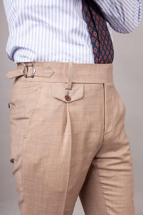 Preorder: Spodnie wełniane beżowe