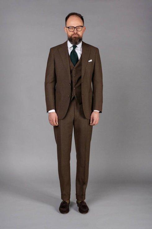 """Preorder: brązowy 3 częściowy garnitur """"Edward"""""""