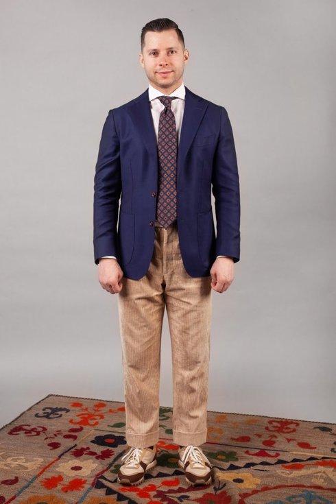 Preorder: spodnie lniany sztruks beżowe