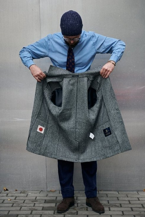 "Safari jacket z tweedu ""James"""