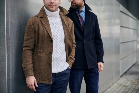 Urban jacket w jodełkę
