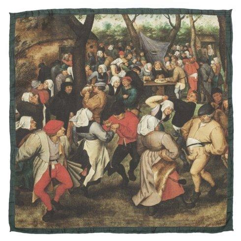 """poszetka Obrazy Mistrzów """"Wiejski taniec"""" Pieter Bruegel Starszy"""